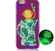 o brilho padrão de macaco no caso de telefone celular escuro para iphone5c