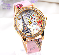 2015 Fashion  retro Eiffel Tower  Hot sell Women's punk Diamond Watch freeshipping