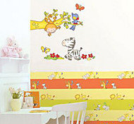 Multifunction DIY PVC Zebra、Monkey、Birds Pattern Decorative Stickers