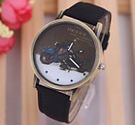 Cute Cartoon  simple dial fashion Women's quartz watch Personality silicone strap Women's watch watch
