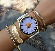 White Daisy Floral Watch Vintage Style Leather Watch Women Watches Unisex Watch Boyfriend Watch Freeforme