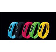 SH01 indossabile intelligente braccialetto braccialetto bluetooth 2.1 pedometro / monitor sonno / cronometro per smartphone Android / ios