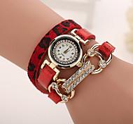xu ™ leopardo grãos relógio de quartzo mosaico de diamantes das mulheres