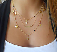 Fine Leaves 18k Bohemia Delicate Layering Necklaces,Layering Necklaces,Bar Necklace,Gold Necklace Clavicle Necklace
