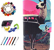 PU Leather Coloured Drawing Or Pattern Holster Package Includes Stand Anti-Dust Plug Stylus for iPhone 6