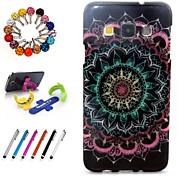 design especial pacote TPU novidade brilho inclui suporte anti-poeira plugue stylus para Samsung Galaxy a7