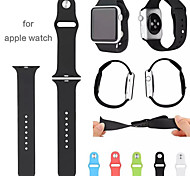 Top Quality 5-root Materia Original 1:1 Silicone Wearables Straps 38mm Watch Band for Apple Watch (Assorted Colors)