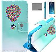 Custodia in pelle coco modello viaggi fun® pallone pu con la protezione dello schermo e il cavo usb e lo stilo per iPhone 5 / 5s