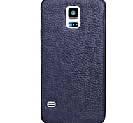 caso de couro de vaca uwei ultra fino impermeável para Samsung Galaxy S5