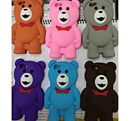 neue Stereo-Teddybär Silikonhülle für iphone 6s plus / 6 plus (verschiedene Farben)