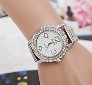 Women's  Watch The Swiss Quartz Diamond Alloy Outer Ring Gear Steel Watch