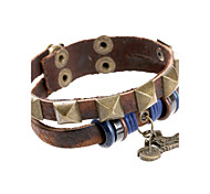 European Style Genuine Leather Factory Direct Sales Bracelet(Brown)(1Pc)