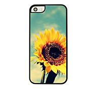 Sonnenblumenledervenenmuster Hard Case für iPhone 5/5 s