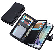 DE JI Wallet PU Leather Case For Samsung Galaxy S6 edge/S6/S5/S4 With 9 Card Slot (Assorted Colors)