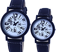 Couple's Circular Quartz Fashion Belt Watch