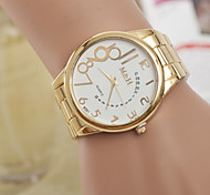Men's Watches  Personality Digital Gold Belt Quartz Watch