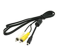 Konica Minolta avc-400 av audio / video cable de cable rca para dimage a1 a2 f100 f200 f300 x20 x21 x31 z1&cámaras digitales z2