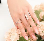 New Arrival Fashional Rhinestone Pearl Rings