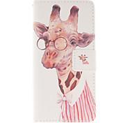 Giraffe Pattern PU Leather Phone Case For Huawei P8 Lite