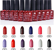 1pcs lentejuelas uv esmalte de uñas de gel de color no.1-12 remojo-off (10 ml, colores surtidos)