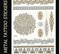 Brand New - Tatuajes Adhesivos - Non Toxic/Tribal/Parte Lumbar/Waterproof - Series de Joya/Series de Flor/Series de Tótem -