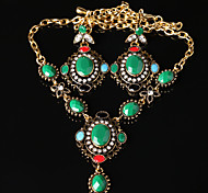 Z&X® Fashion Vintage High End Alloy Jewelry Set Party/Casual 1set