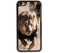 courir design en aluminium du lion cas de haute qualité pour iPhone 5c