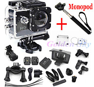 mini camcorders  Style Full HD DVR SJ4000 video Sport go pro camera extreme Sport Helmet Action Camera+monopod