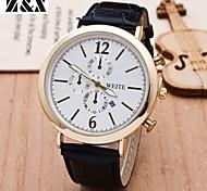 la montre à quartz de mode ceinture analogique poignet des hommes (couleurs assorties)