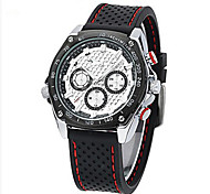 Men's Watch Sport Metallic Case Rubber Band