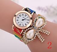 2015  New Fashion  Women Watches Gold Wristwatch Ladies Quartz Watches Geneva   Flower  Bracelet XR1274