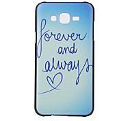 modèle de lettre pc cas matériau de téléphone pour Samsung Galaxy J5 J7