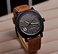 2015 New Style Men's scrub leather watch watch watch outdoor luminous quartz watch wholesale outdoor table