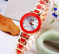 novo seletor de diamante banda liga bracelete das mulheres de maré atual rodada de moda relógio de quartzo (cores sortidas)