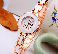 nova maré atual rodada padrão de estrela diamante com ligação banda liga de moda pulseira quartzo relógio das mulheres (cores sortidas)