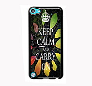 Keep Calm and Carry On Design Aluminum High Quality Case for iPod Touch 5