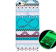 The Letter Pattern Luminous Phone Case Back Cover Case for iPhone5C
