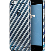ESR® Beat Series Scratch-Resistant Perfect Fit Clear Hard Back Case with Blue Stripes Pattern for iPhone 6