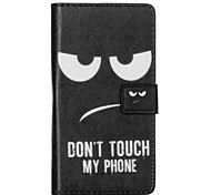 padrão de olhos preto pu couro caso de telefone para Huawei p8 Lite