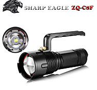 Sharp Eagle 3 Mode 1400 Lumens LED Flashlights Adjustable Focus CREE XML-L2