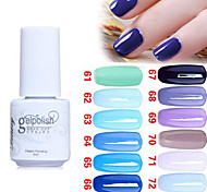 Sequins UV Color Gel Nail Polish No.61-72 (5ml, Assorted Colors)