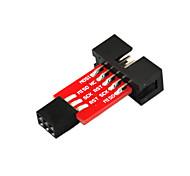 10PIN to 6PIN AVRISP/USBasp/STK500 (Red)