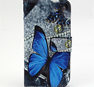 Butterfly Pattern PU Leather TPU Full Body Case with Card Holder for Samsung Galaxy E7/E5