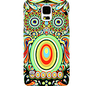 LUXO Luminous Colorful Owl Face Pattern PC Back Cover Case for Samsung Galaxy S5/i9600