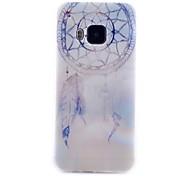 Campanula Pattern Transparent TPU Material Phone Case for HTC M9