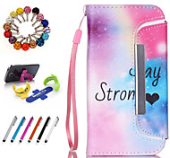 Good Quality PU Leather with Stylus Pen, Dustproof Plug and Stand for Samsung Galaxy Note 3/Note 4