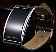 Men's Fashion Slim Digital LED Casual Watch Leather Strap Wristwatch Cool Watch Unique Watch
