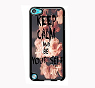 Keep Calm and Be Yourself Design Aluminum High Quality Case for iPod Touch 5