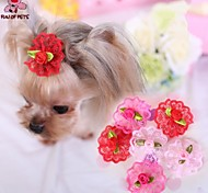 Cat / Dog Hair Accessories / Hair Bow Red / Pink / Rose Spring/Fall Wedding / Cosplay