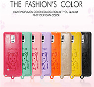 Leiers Dimicat case pu leather and tpu following whole package case for Samsung Galaxy Note4/N9100